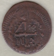 Colombia, Santa Marta, 1/4 REAL 1820, Royaliste Siege Coinage .KM# 2 - Kolumbien