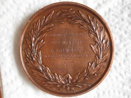 Second Empire Medaille MONTYON - ACADEMIE FRANCAISE, Attribué à Germaine 1855, Par GAYRARD - France