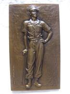 Plaque Marechal LECLERC De HAUTECLOCQUE 1947, Par Georges GUIRAUD (d'apres E. Jonchere) - France