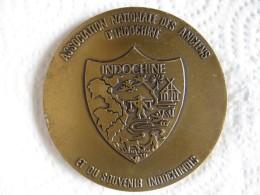 Médaille Association Nationale Des Anciens Indochine Guerre Indochine, Par Pichard - Militaria