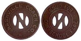 01521 GETTONE JETON TOKEN TRANSIT TENNESSE, NASHVILLE, 1940 - Non Classificati