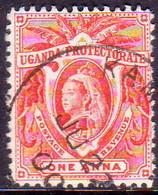 UGANDA 1898 SG #84 1a Used Scarlet - Great Britain (former Colonies & Protectorates)