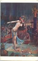 - Thèmes -ref-W981- Arts - Tableaux - Tableau - Peintre Bussiere - Salomé - Nu - Nus - Nude - Nudes - Salon De Paris - - Peintures & Tableaux