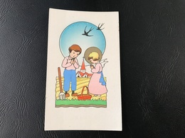 Enfants Priant Pour Une Bonne Recolte - Eglise St Nizier 1952 - Images Religieuses