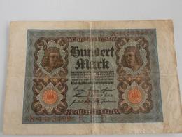 Germania - Hundert Mark 1920 - [ 3] 1918-1933 : Repubblica  Di Weimar
