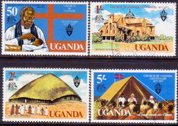 UGANDA 1977 SG #193-96 Compl.set Used Ugandan Church - Uganda (1962-...)