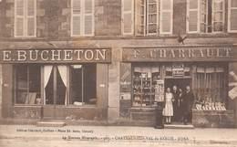 58 - Chateauneuf-Val-de-Bargis - Façade De Commerces Subtilement Animée - E.BUCHETON - F.CHARRAULT - - Other Municipalities