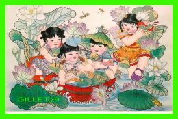 BEIJING, CHINE - GATHERING LOTUS SEEDS - No 5 - - Chine