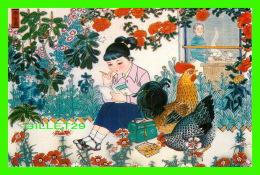 BEIJING, CHINE - WORKING HARD AT HER BOOK - No 9 - - Chine