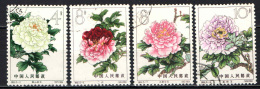 CINA - REPUBBLICA POPOLARE - 1964 - FIORI - FLOWERS - USATI - 1949 - ... Repubblica Popolare