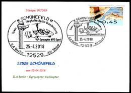 84183) BRD - SoST-Karte 07/069 - 12529 SCHÖNEFELD Vom 25.04.2018 - Gyrocopter MTO Sport, Helikopter - [7] West-Duitsland