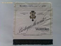 Lote 2 Etiquetas Vino Blanco Bodegas Morenito. Bodegas La Gloria. D.O. Valdepeñas. Ciudad Real Castilla La Mancha España - Vino Tinto