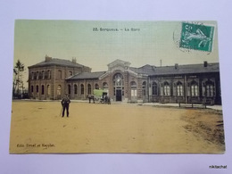 SERQUEUX-La Gare-Vue Extérieure-Carte Toilée Couleur - Otros Municipios