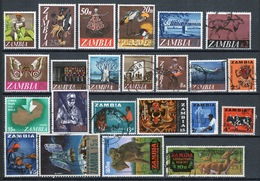 Zambia Small Selection Of 23 Different Stamps. - Zambia (1965-...)