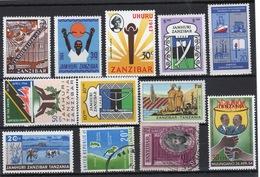 Zanzibar Small Selection Of 12 Different Stamps. - Zanzibar (1963-1968)