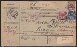 DR Paketkarte Mif Minr.47,48,50 Coburg 10.6.95 Gel. In Schweiz - Deutschland