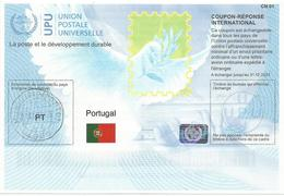 PORTUGAL  International Reply Coupon IRC CN 01 COUPON-RÉPONSE INTERNATIONAL UPU With HOLOGRAM - Portugal