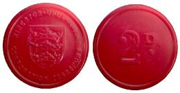 01821 GETTONE TOKEN JETON TRASPORTO TRANSIT KINGSTON UPON HULL CITY - Unclassified