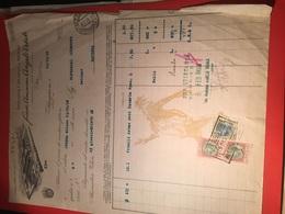 19-12-1928ALESSANDRIA-DITTA ANGELO VITALE-CALZATURE E PELLAMI-FATTURA - Ver. Königreich