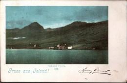 ! Alte Ansichtskarte Gruss Aus Island, Iceland, Fiskand Fjord - Island