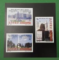 ETHIOPIA ETHIOPIE ¤ DELUXE PROOF EPREUVE DE LUXE ¤ 2009 ADDIS ABABA CITY MONUMENTS ARCHITECTURE ¤ ULTRA RARE - Ethiopie