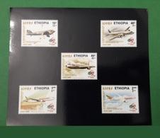 ETHIOPIA ETHIOPIE ¤ DELUXE PROOF EPREUVE DE LUXE ¤ 2003 AIR PLANES AVIONS BOEING AIRBUS ETHIOPIAN AIRLINES ¤ ULTRA RARE - Ethiopie