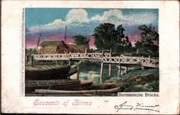 ! Alte Ansichtskarte Souvenir Of Birma, Burma, 1899, Weltreise Verlag, Comagnie Comet Dresden - Myanmar (Burma)