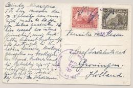 Nicaragua - 1934 - 2 Stamps On Postcard From Corinto To Groningen / Nederland - Nicaragua