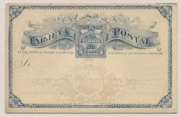 Nicaragua - 1890 - 3c Postcard - Not Used - Nicaragua