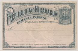 Nicaragua - 1891 - 2c Postcard - Not Used - Nicaragua