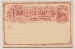 Nicaragua - 1892 - 3c Postcard - Not Used - Nicaragua