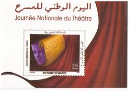 Maroc  Album N° 1520 De 2009 Timbre + FDC Journée Nationale Du Théâtre. - Marruecos (1956-...)