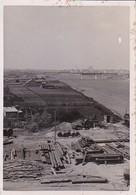 Foto Polotsk Weissrussland - Dvina - Fluss Eisenbahnbrücke Metalllager - Ca. 1940 - 8,5*5,5cm (34472) - Lieux