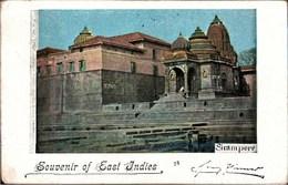 ! Alte Ansichtskarte Souvenir Of East Indies, India, Indien, Temple, 1899, Weltreise Verlag, Compagnie Comet Dresden - Indien