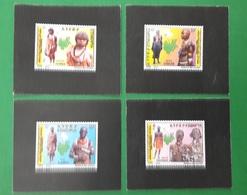 ETHIOPIA ETHIOPIE ¤ DELUXE PROOF EPREUVE DE LUXE ¤  2011 NATIONALITIES NATIONALS MAP COSTUMES COSTUME ¤ ULTRA RARE - Ethiopie