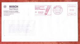 Brief, Francotyp-Postalia F68-7199, Bosch-Autotelefon, 100 Pfg, Berlin 1992 (50903) - BRD