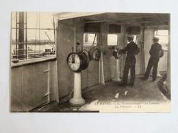 """C.P.A. Le Havre Le Transatlantique  """"LA LORRAINE"""" La Timonerie, Animé - Passagiersschepen"""