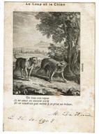 CPA  - Fable De Jean De La Fontaine : Le Loup Et Le Chien - 1902 - Edit. Van Cortenbergh - 2 Scans - Fairy Tales, Popular Stories & Legends