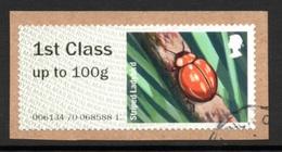 GREAT BRITAIN Post & Go Label/Ladybird: USED ON PIECE - Gran Bretagna