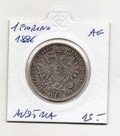 Austria - 1886 - 1 Fiorino - Argento - (FDC9538) - Austria