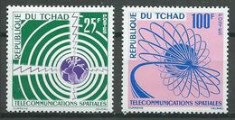 Tchad YT N°86/87 Télécommunications Spatiales Neuf ** - Tsjaad (1960-...)