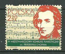 POLAND MNH ** 3954 Concours International De Piano, Musique, Frédéric Chopin Musicien - 1944-.... République