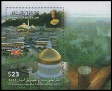 (038) Brunei  ASEAN Sheet / Bf / Bloc / 2013  ** / Mnh  Michel BL 46 - Brunei (1984-...)