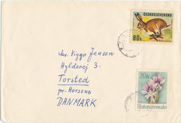 Czechoslovakia Cover Sent To Denmark 1968 With Topic Stamps - Czechoslovakia