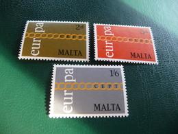 TIMBRES   MALTE   EUROPA    1971   N  424  A  426   COTE  1,80  EUROS   NEUFS  LUXE** - Europa-CEPT