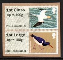 GREAT BRITAIN Post & Go Labels/Birds/Gannet/Oystercatcher: USED ON PIECE - Gran Bretagna