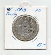 Belgio - 1949 - 50 Franchi - Argento - (FDC9543) - 1945-1951: Reggenza