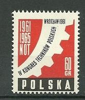 POLAND MNH ** 1089 CONGRES DES TECHNICIENS POLONAIS - 1944-.... République