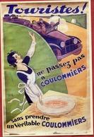 """Edouard BERNARD - """"Touristes ! Ne Passez Pas à COULOMMIERS Sans Prendre Un Véritable Coulommiers"""" (FROMAGE) - CPSM - Werbepostkarten"""