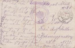 ARTILLERIE REG. FREIHERR VON ? Nr.2 (Sonderstempel), Zensuriert, Feldpostamt 186, Auf Ak KRAKAU Weichselbrücke, Gel.1916 - 1914-18